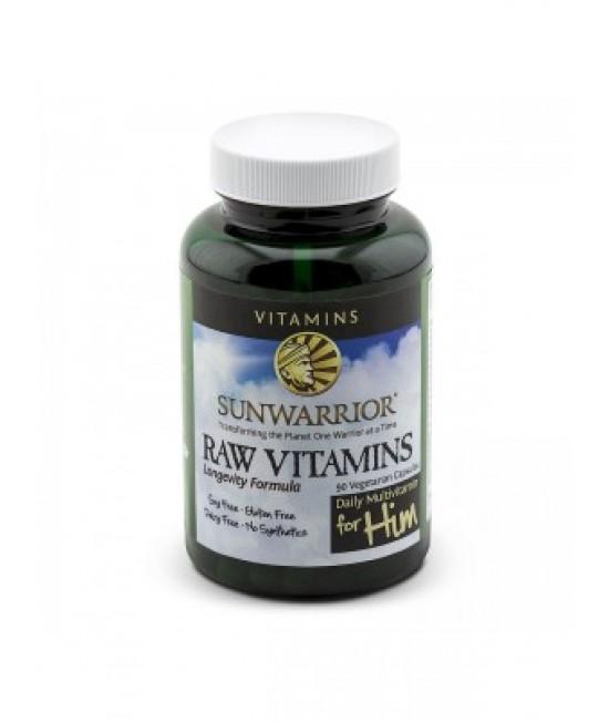Sunwarrior, Raw Vitamins, Daily Multivitamin For Him, 90 Veggie Caps