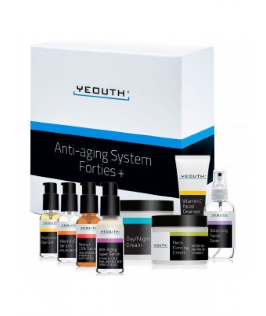 Yeouth, Anti-Aging System, Forties +, 8 Piece Set