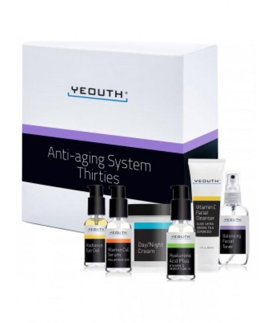Yeouth, Anti-Aging System, Thirties, 6 Piece Set